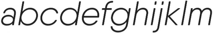 Qanelas Soft Light Italic otf (300) Font LOWERCASE