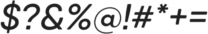 Qanelas Soft Medium Italic otf (500) Font OTHER CHARS