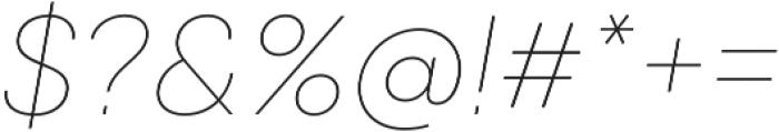 Qanelas Soft Thin Italic otf (100) Font OTHER CHARS