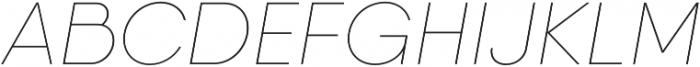 Qanelas Soft Thin Italic otf (100) Font UPPERCASE