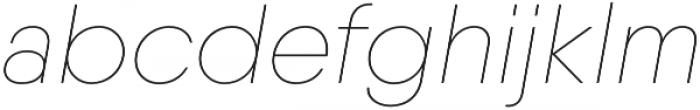 Qanelas Soft Thin Italic otf (100) Font LOWERCASE
