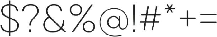 Qanelas Soft UltraLight otf (300) Font OTHER CHARS