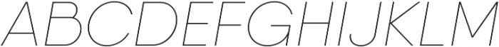 Qanelas Thin Italic otf (100) Font UPPERCASE