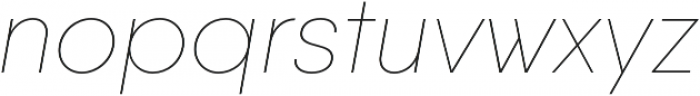 Qanelas Thin Italic otf (100) Font LOWERCASE