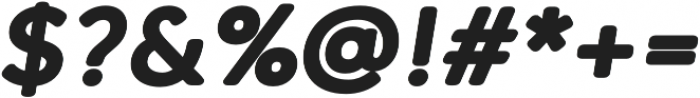 Qartella Heavy Italic otf (800) Font OTHER CHARS