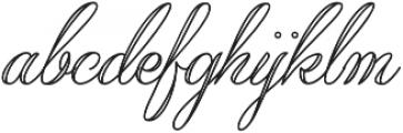 Qaskin White otf (400) Font LOWERCASE