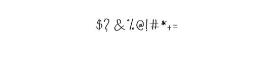Qalin-Handwritting.otf Font OTHER CHARS