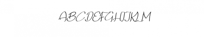 Qalin-Handwritting.otf Font UPPERCASE