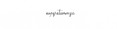 Qalin-Handwritting.otf Font LOWERCASE