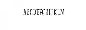 Qarrotface Handwritten Serif Font Font UPPERCASE
