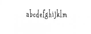 Qarrotface Handwritten Serif Font Font LOWERCASE