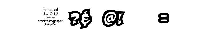 Qaddal Personal Use Regular Font OTHER CHARS