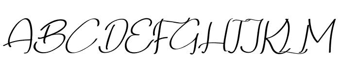 Qalin Handwritting Font UPPERCASE