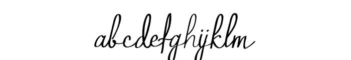 Qalin Handwritting Font LOWERCASE