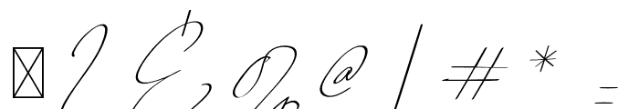 QalisthaRegular Font OTHER CHARS