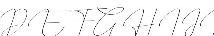 QalisthaRegular Font UPPERCASE
