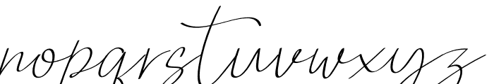 QalisthaRegular Font LOWERCASE