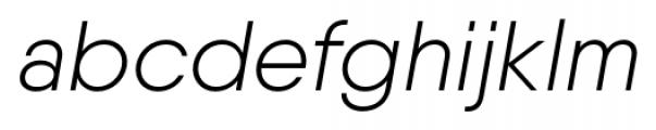 Qanelas Light Italic Font LOWERCASE