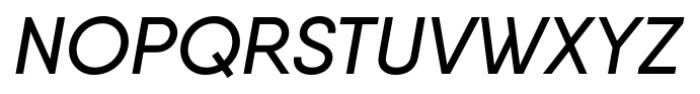 Qanelas Medium Italic Font UPPERCASE