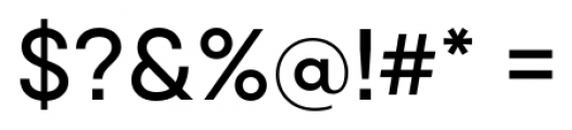 Qanelas Medium Font OTHER CHARS
