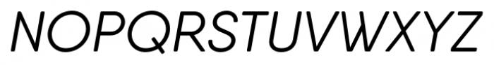 Qanelas Soft Italic Font UPPERCASE