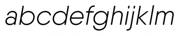 Qanelas Soft Light Italic Font LOWERCASE