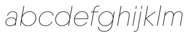 Qanelas Soft Thin Italic Font LOWERCASE