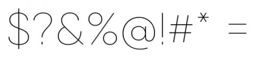 Qanelas Soft Thin Font OTHER CHARS