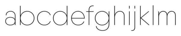 Qanelas Soft Thin Font LOWERCASE