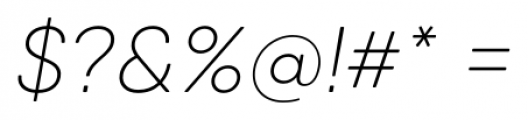 Qanelas Soft Ultra Light Italic Font OTHER CHARS