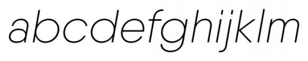 Qanelas Soft Ultra Light Italic Font LOWERCASE