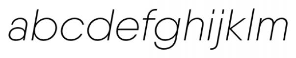 Qanelas Ultra Light Italic Font LOWERCASE