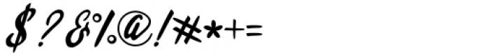 Qadisah Script Regular Font OTHER CHARS
