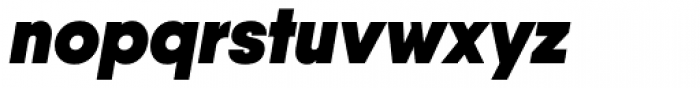 Qanelas Heavy Italic Font LOWERCASE