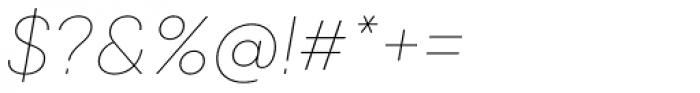 Qanelas Soft Thin Italic Font OTHER CHARS