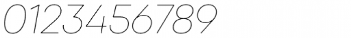 Qanelas Thin Italic Font OTHER CHARS
