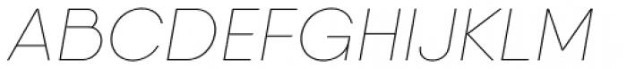 Qanelas Thin Italic Font UPPERCASE