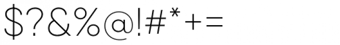 Qanelas Ultra Light Font OTHER CHARS