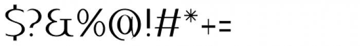Qatana Light Font OTHER CHARS