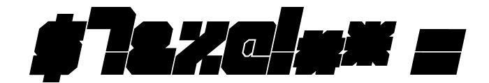 Qbic Italic Font OTHER CHARS