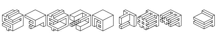 Qbicle 1 BRK Font OTHER CHARS