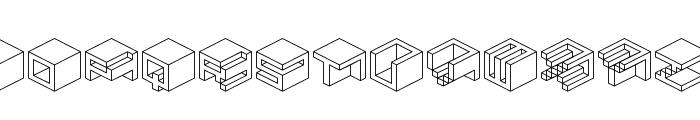 Qbicle 1 BRK Font LOWERCASE