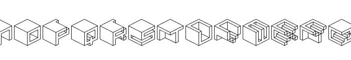 Qbicle 2 BRK Font LOWERCASE
