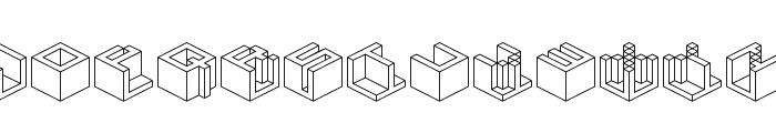 Qbicle 4 BRK Font LOWERCASE