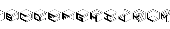 Qbicle1BRKMK Font UPPERCASE