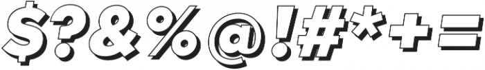 Qebab Shadow Italic otf (400) Font OTHER CHARS