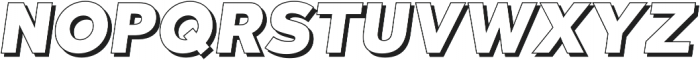 Qebab Shadow Italic otf (400) Font UPPERCASE