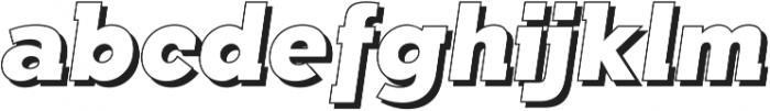 Qebab Shadow Italic otf (400) Font LOWERCASE