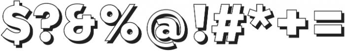 Qebab Shadow Regular otf (400) Font OTHER CHARS