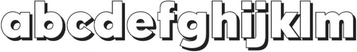 Qebab Shadow Regular otf (400) Font LOWERCASE